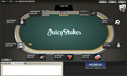 Juicy Stakes Poker tables